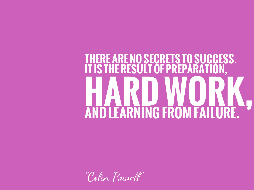 THERE ARE NO SECRETS TO SUCCESS. IT IS THE RESULT OF PREPARATION, HARD WORK, AND LEARNING FROM FAILURE.  alt=