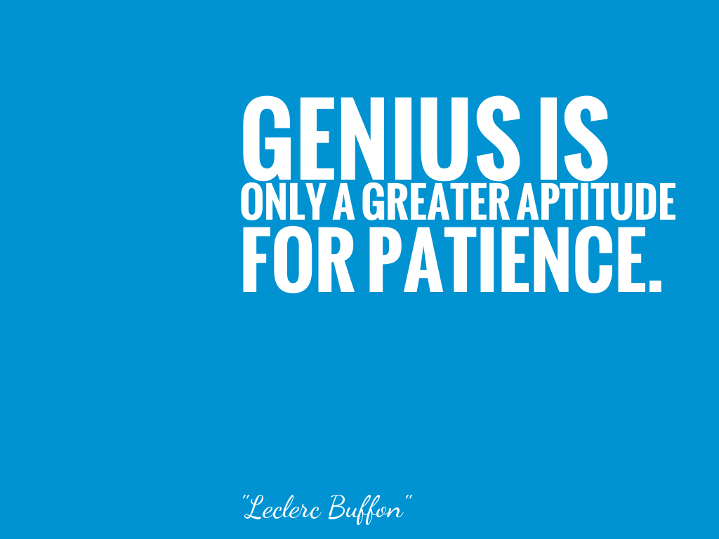 Genius Is Only A Greater Aptitude For Patience 名言で英語を学