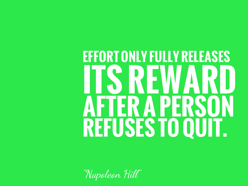 Effort Only Fully Releases Its Reward After A Person Refuses To